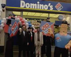 In Luton with  Domino's Pizza  where they celebrated their 25th anniversary in store